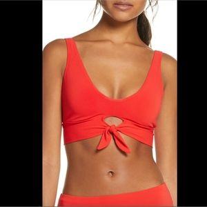 NEW $110 Robin Piccone Ava Knot Front Bikini Top